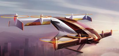 O fabricante de aviões Airbus está trabalhando no desenho de um carro voador, o projeto Vahana.