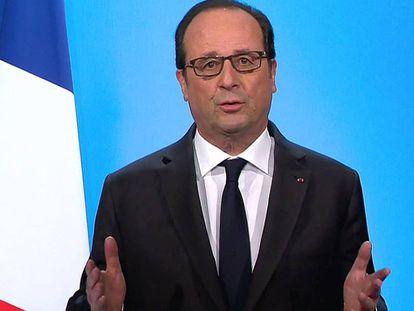 François Hollande, nesta quinta-feira durante seu comparecimento televisada.