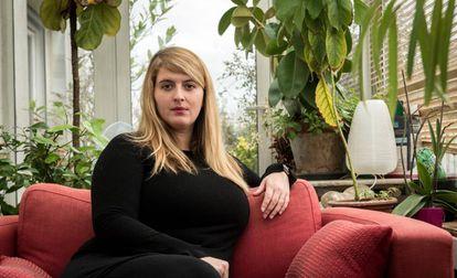 Manon Garcia na casa de sua mãe em Paris em 9 de janeiro.