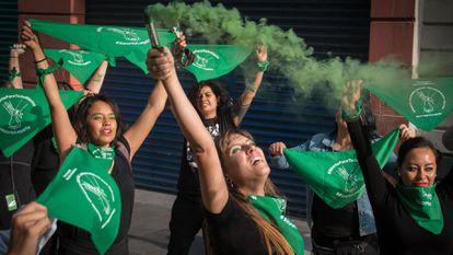 Protesto em favor do aborto na Cidade do México, em 2019.