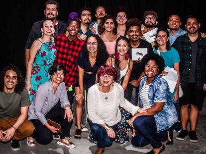 Grupo de jovens do Movimentos, no último sábado.
