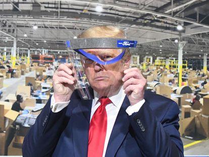 O presidente dos Estados Unidos, Donald Trump, em maio passado em Ypsilanti (Michigan).