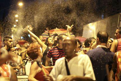 Bloco de pré-carnaval no centro de São Paulo