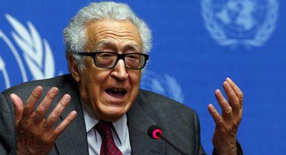 O enviado especial da ONU para a Síria, Lakhdar Brahimi.