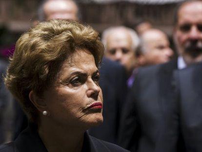Rousseff durante evento em Nova York.