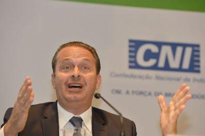 Eduardo Campos, nesta quarta-feira em Brasília.