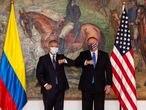 El presidente de Colombia, Iván Duque, y el secretario de Estado norteamericano, Mike Pompeo, durante su encuentro en la Casa de Nariño, en Bogotá.