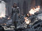 'Game of Thrones' conseguiu por seus méritos próprios ser considerada uma das melhores séries da última década. Entretanto, essa reputação não livrou a ficção da HBO de cometer falhas pouco discretas. Na imagem, Arya Stark no penúltimo capítulo.