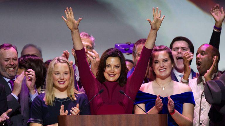 A governadora democrata de Michigan, Gretchen Whitmer, em uma imagem de arquivo.