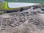Fotografías aéreas de la excavación en la megalópolis descubierta en Israel.