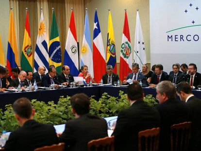 Reunião de chanceleres do Mercosul.