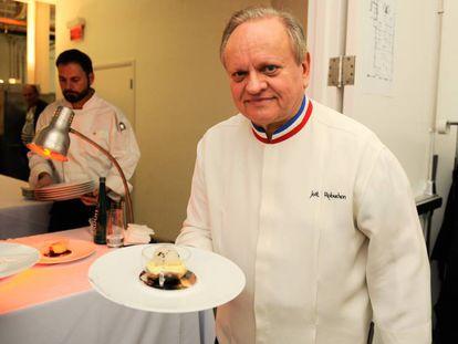 O cozinheiro Joël Robuchon, em fevereiro de 2016, em Miami.