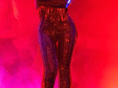 Beyoncé, em Miami durante a turnê.