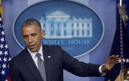 Obama, nesta sexta-feira na Casa Branca.