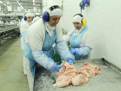 Funcionários da JBS Seara, no Paraná, envolvida na operação Carne Fraca.