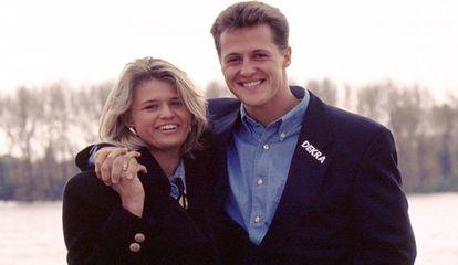 Michael Schumacher e sua mulher Corinna, na Alemanha.