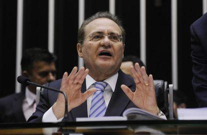 O presidente do Congresso, Renan Calheiros.