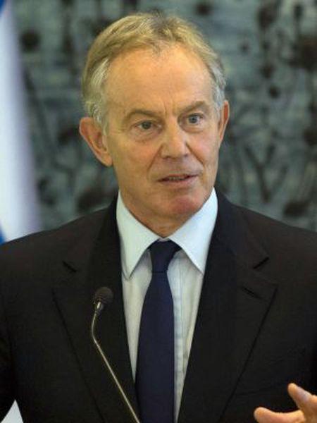 O ex-primeiro-ministro britânico durante viagem a Jerusalém como enviado da ONU para o Oriente Médio, em julho de 2014.