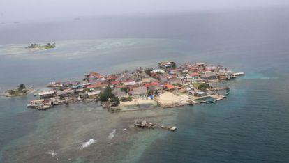 As ilhas panamenhas correm perigo de serem cobertas pelo mar.