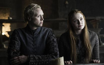 Gwendoline Christie e Sophie Turner em 'Game of Thrones'.
