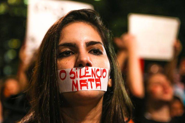 Manifestação contra o estupro na Avenida Paulista, em junho deste ano.
