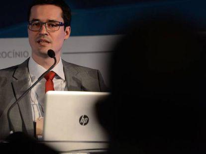Dallagnol em palestra em 2016.