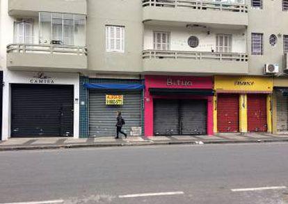 Lojas do Bom Retiro, no centro de São Paulo, ficaram fechadas nesta sexta-feira.