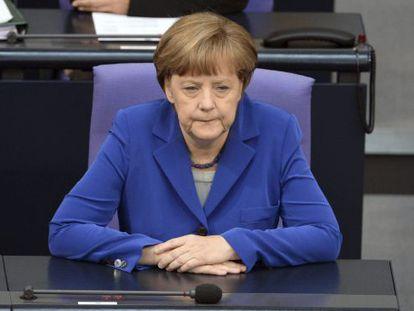 A chanceler Angela Merkel, nesta sexta-feira.