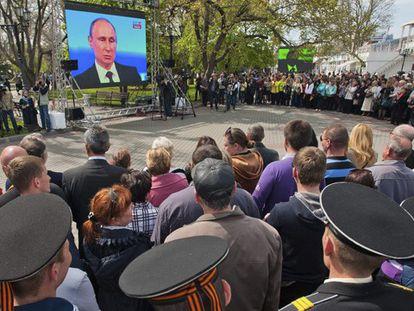 A entrevista de Putin, vista da Crimeia.