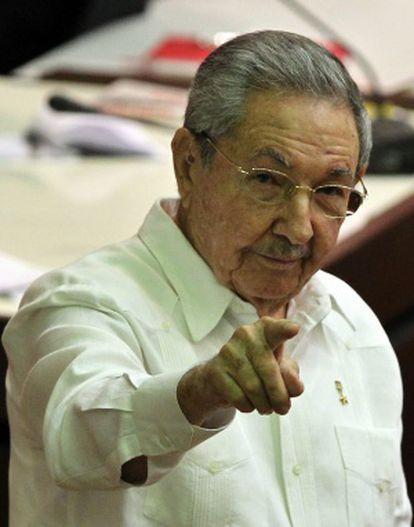 O presidente de Cuba, Raúl Castro, em Havana.