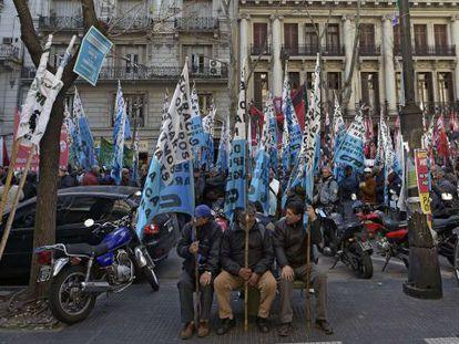 Uma manifestação em Buenos Aires na quarta-feira.