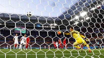 Soccer Football - World Cup - Group E - Serbia vs Switzerland - Kaliningrad Stadium, Kaliningrad, Russia - June 22, 2018 Switzerland's Granit Xhaka scores their first goal REUTERS/Gonzalo Fuentes
