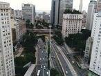 Vista de la avenida Paulinista, una de las más importantes de Sao Paulo.