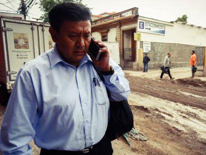 O ministro de Defesa da Bolívia, Jorge Ledezma.