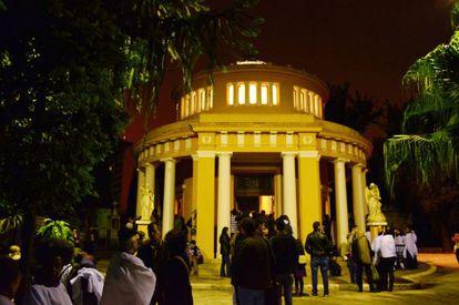 O Cemitério da Consolação durante a Virada Cultural de SP.