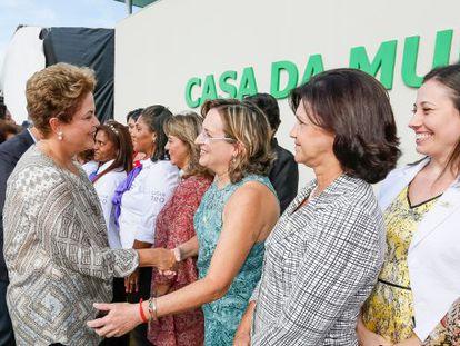 Dilma na inauguração da Casa da Mulher, em Campo Grande.