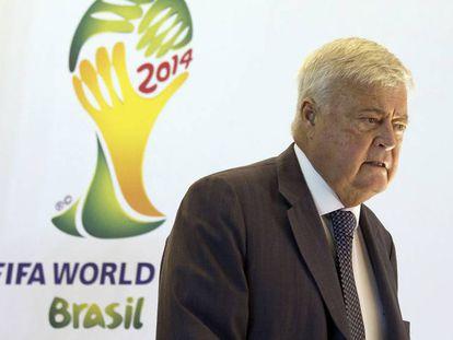 Ricardo Teixeira, em reunião do Comitê Organizador da Copa.