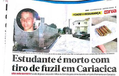 Reprodução do jornal Notícia Agora