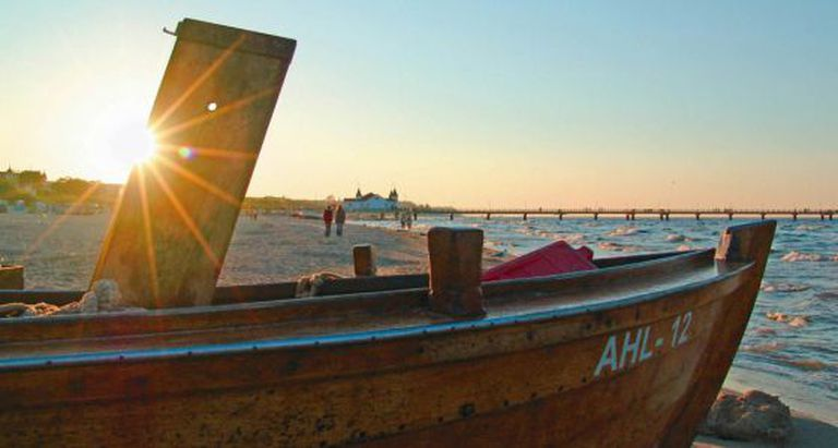 Praia Ahlbeck, na ilha Usedom.