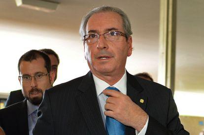 Eduardo Cunha em Brasília, dia 28 de março.