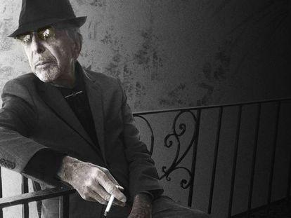 """Leonard Cohen, na capa de seu novo disco, """"You want it darker""""."""
