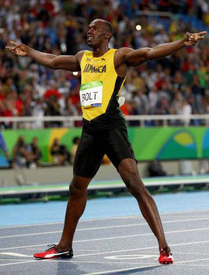 Bolt, depois da final.