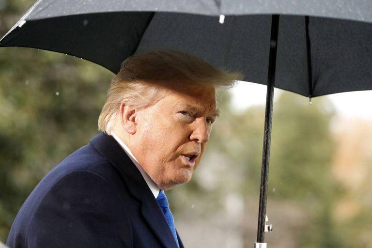Presidente Donald Trump nesta segunda-feira.