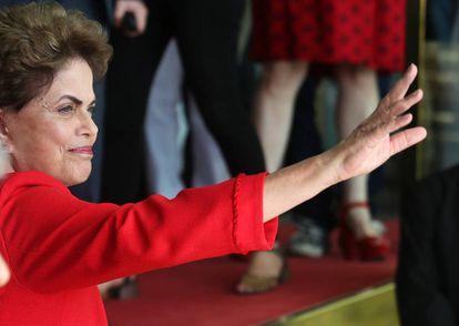 Dilma no Palácio da Alvorada.