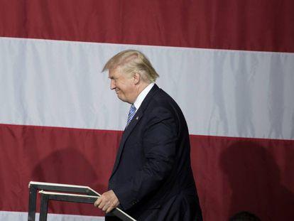 O candidato republicano Donald Trump, em um ato de campanha.