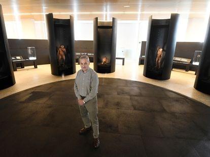 O paleoantropólogo José María Bermúdez de Castro no Museu da Evolução Humana, em Burgos, em 16 de março.