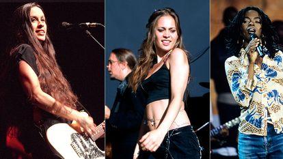 Alanis Morissette, Fiona Apple e Lauryn Hill.