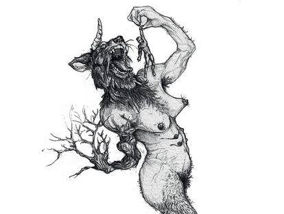 Ilustração de Lino Arruda na HQ 'Monstrans - Experimentando horrormônios'.