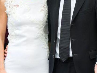 Matteo Renzi, com sua esposa Agnese Landini.