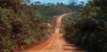 Trecho da rodovia Transamazônia, entre os municípios de Medicilândia e Uruará.